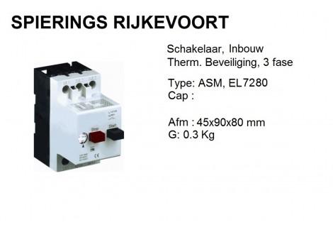 Schakelaar 6,3 - 10A inbouw motorbeveiliging PKZ
