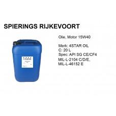 15W40 API SG / CE-CF4  Motorolie 20L