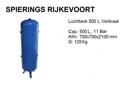 Tank 500L 11bar