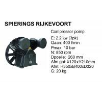 pomp 2 cil 400L/min compressor