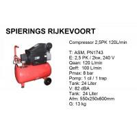 Compressor 2,5pk 120L/min 230v