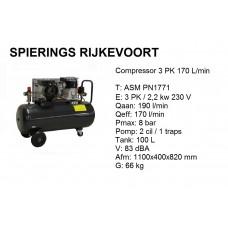 Compressor 3pk 236 L/min 230V