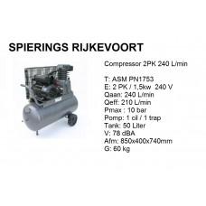 Compressor 2pk 240L/min 230v
