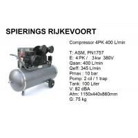 Compressor 4pk 400L/min 380v