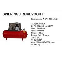 Compressor 7,5pk 900L/min 380v