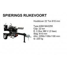 Houtklover 22ton 61cm 380V Horizontaal / Verticaal