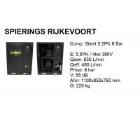 Compressor 5,5pk 8bar silent 650L/min