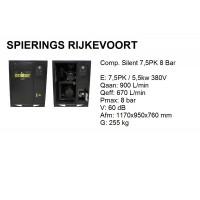 Compressor 7,5pk 8bar silent 900L/min