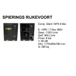 Compressor 10pk 8bar silent 1100L/min