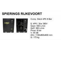 Compressor 4pk 8bar silent 500L/min