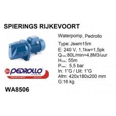 pomp water 1,5pk 240v pedrollo JSWM 2a (15m)