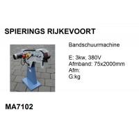 Bandschuurmachine 75x2000 3kw 380v