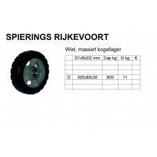 Wiel 300mm 800kg rubber