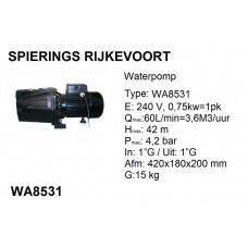 pomp water 1pk 240v 60L/min