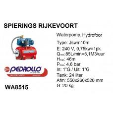 pomp water Hydrofoor 1pk Pedrollo 240v jswm 2c (10M)