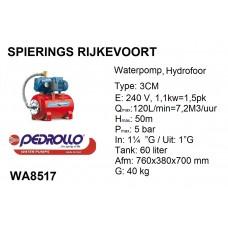 pomp water hydrofoor 2pk Pedrollo 240v jswm 3cm
