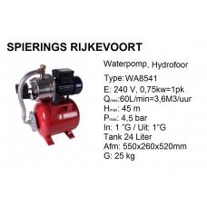 pomp water Hydrofoor 1pk 240v RVS
