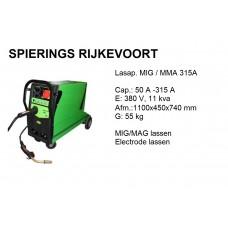 Lasapparaat MIG / MAG Elect 315A 380V inverter Co2