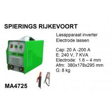 Lasapparaat Electrode 200A 230v inverter