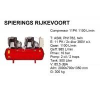 Compressor 11pk 1100L/min 380v