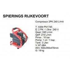 Compressor 2pk 240L/min 230v Colibri