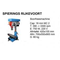 Boorfreesmachine MC2 230v met kruistafel