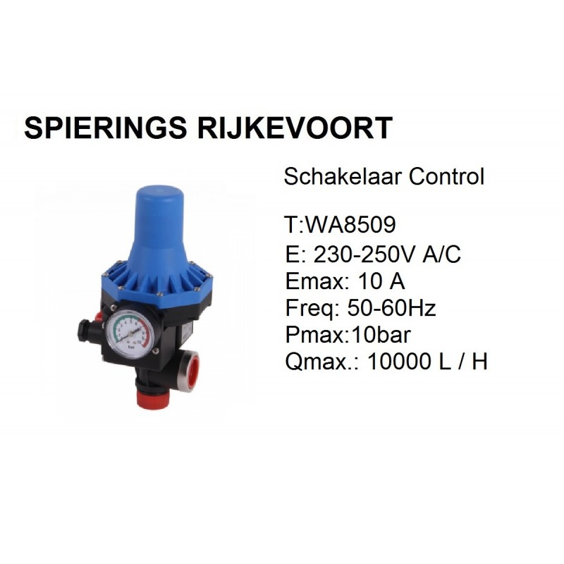 Schakelaar Waterpomp 240v