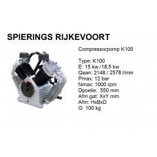 k100 Chinook Shamal 2578L/min compressorpomp