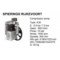 k30 Chinook Shamal 900L/min compressorpomp