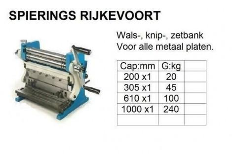 Wals Zet Knip Combi 1000mm Handbediend