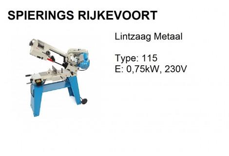 Lintzaagmachine HBM T 115 230V