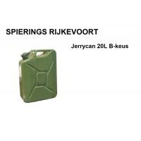 Jerrycan 20L staal B-Keus Ongebruikt