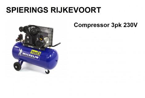 Compressor 3pk 250L/min 230V