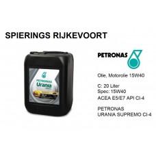 15W40 API CI-4 Motorolie Petronas Urania Supremo  20L
