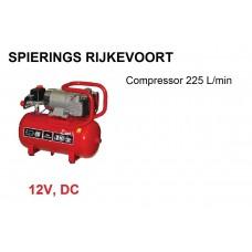 Compressor 12V 225 L/min Tank 15L