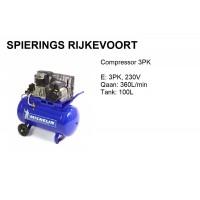 Compressor 3pk 250L/min 230V Michelin Alu