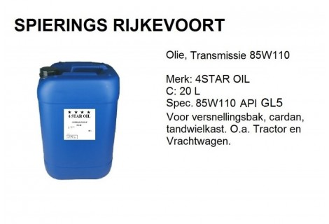 85W140 API GL 5 Transmissieolie 20L