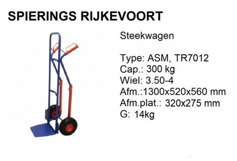 Steekwagen staal 300kg Anti-lek